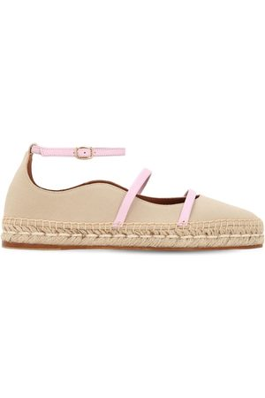 MALONE SOULIERS 20mm Selina Cotton & Leather Espadrilles