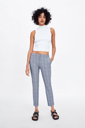 Zara Check jogger waist trousers