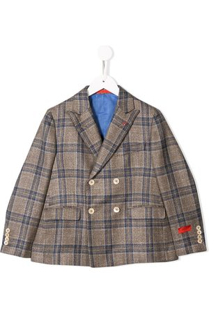 ISAIA Plaid double-breasted blazer