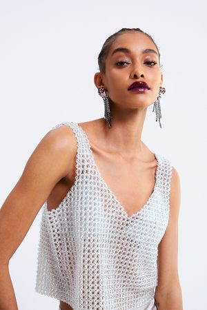 Zara Limited edition beaded top