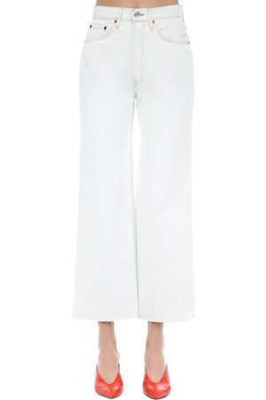 RE/DONE High Rise Cropped Cotton Denim Jeans