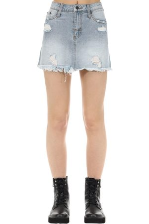 The People Vs Vixen Cotton Denim Skirt