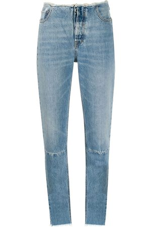 Unravel Project Frayed detail slim jeans
