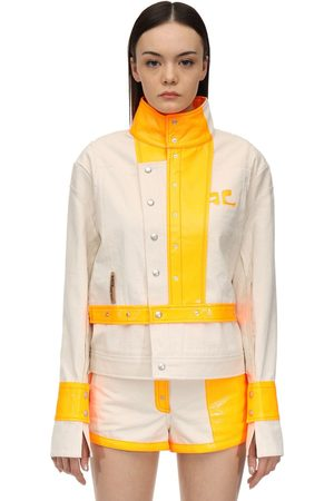 Courrèges Contrasting Cotton & Vinyl Jacket