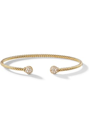 David Yurman 18kt yellow Petite Solari Bead diamond bracelet