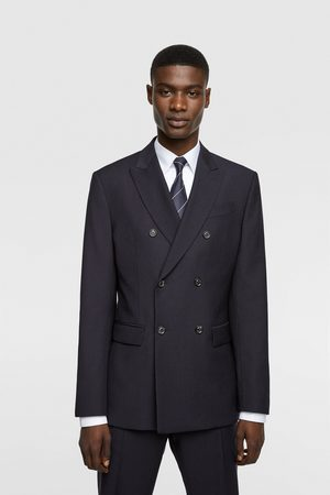 Zara Men Blazers - Double-breasted wool blazer