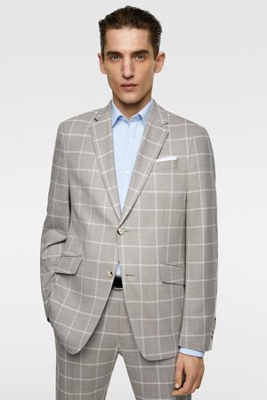 c8a6c57892 Check suit blazer