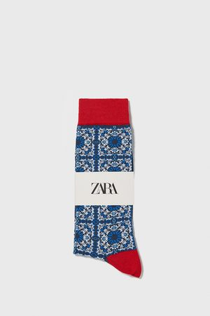 Zara Geometric jacquard mercerised cotton socks