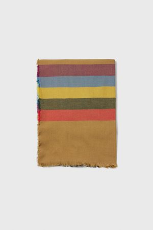 Zara Contrast striped scarf