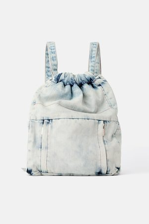 Zara Gathered denim backpack