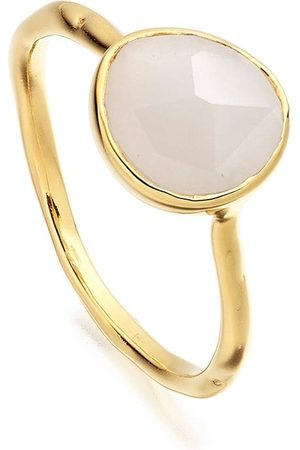 Monica Vinader Siren Stacking Moonstone ring