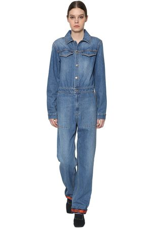 Kenzo Long Sleeve Cotton Denim Jumpsuit