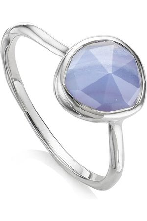 Monica Vinader Siren Stacking Blue Lace Agate ring