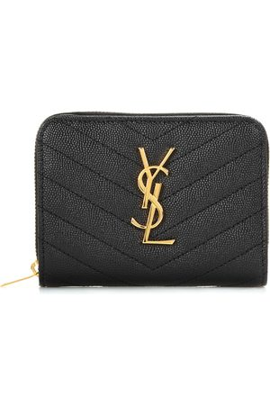 Saint Laurent Monogram Compact leather wallet