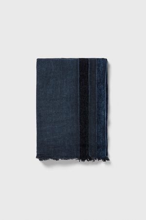 Zara Men Scarves - Contrast striped scarf