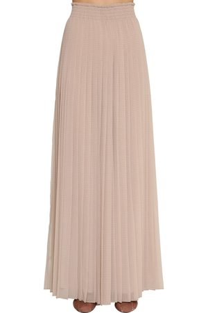 Max Mara Pleated Chiffon Pants