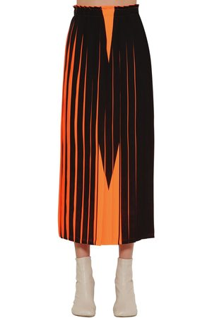MM6 MAISON MARGIELA Women Printed Skirts - M Print Pleated Midi Skirt
