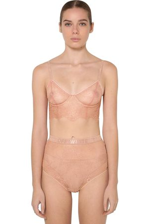 OFF-WHITE Women Bustiers - Soft Lace Bustier W/underwire