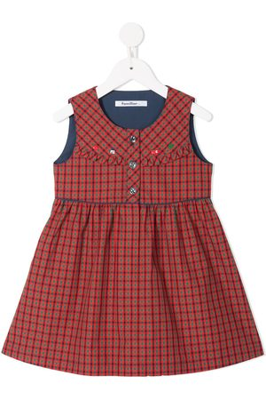 Familiar Checked pleated dress