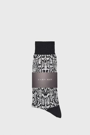 Zara Men Socks - Snakeskin jacquard mercerised socks