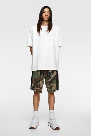 Zara Camouflage print bermuda shorts with taping