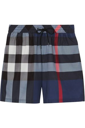 Burberry Check Drawcord Swim Shorts