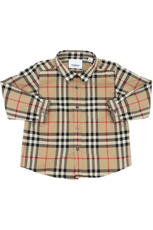 Burberry Check Printed Cotton Poplin Shirt