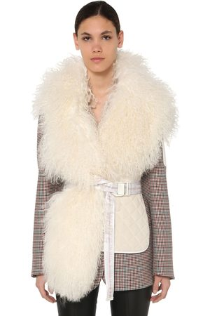 OFF-WHITE Quilted Waistcoat W/ Shearling
