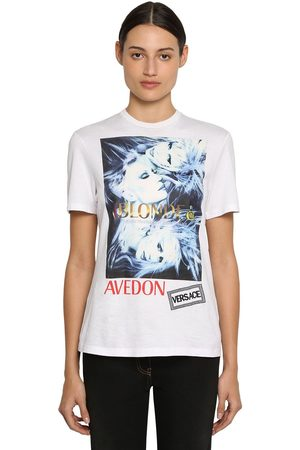VERSACE Printed & Embroidered Cotton T-shirt