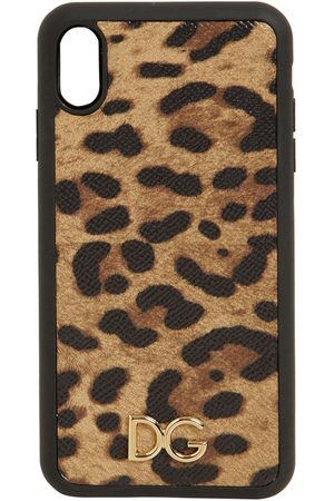 Dolce & Gabbana Women Phone Cases - Print Leather Iphone X Max Case