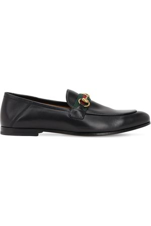 Gucci 10mm Leather Foldabled Loafers W/ Web