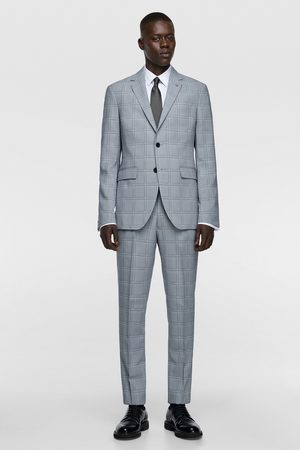 Zara Coolmax® check suit blazer