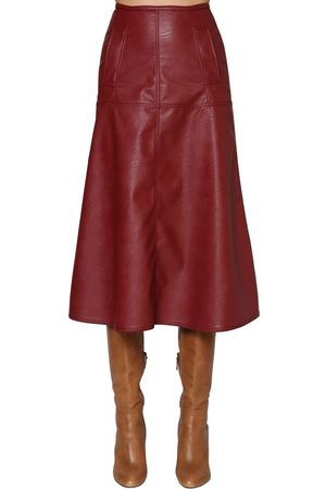JOHANNA ORTIZ Women Leather Skirts - Faux Leather Midi Skirt