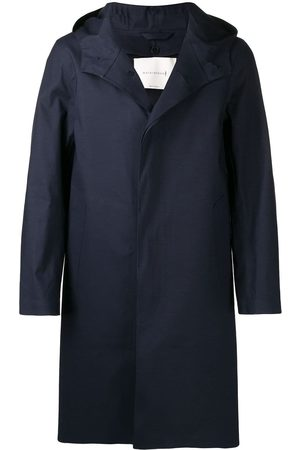 MACKINTOSH CHRYSTON Navy Bonded Cotton Hooded Coat GR-1003D