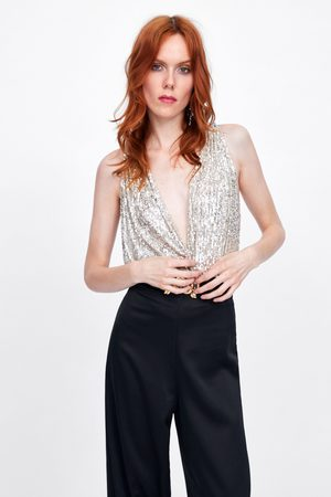 Zara Sequin bodysuit