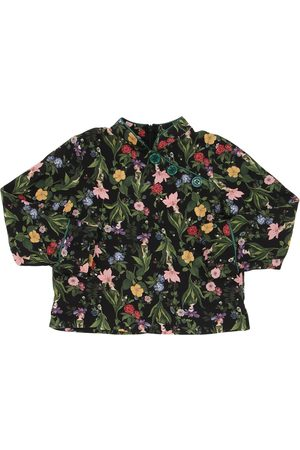 VIVETTA Girls Shirts - Floral Print Light Viscose Flannel Shirt