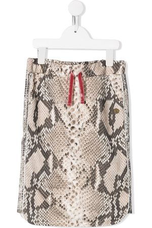 Roberto Cavalli Junior Girls Printed Skirts - Snakeskin print skirt