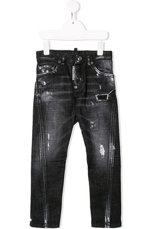 Dsquared2 Distressed skinny-fit jeans