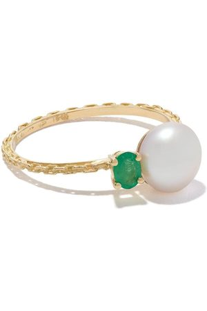 WOUTERS & HENDRIX 18kt Emerald & Pearl ring