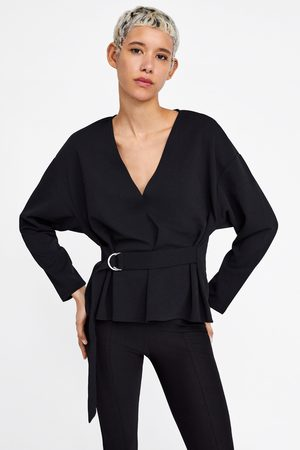 Zara T-shirt with belt and loop