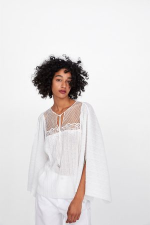 Zara Flowing embroidered t-shirt