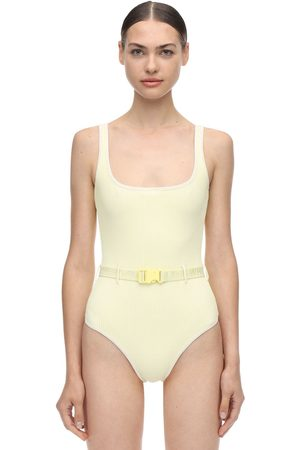 OFF-WHITE Belted One Piece Swimsuit