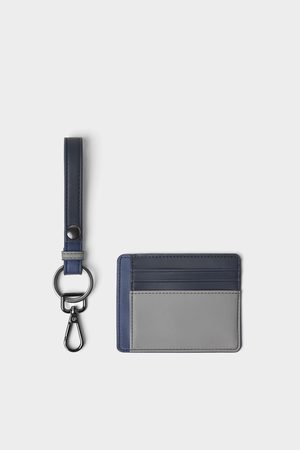 Zara Men Wallets - Three-tone card holder and key strap pack