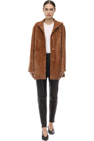 DROME Reversible Hooded Astrakhan Coat