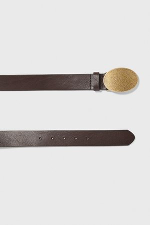 Zara Leather belt with plate buckle