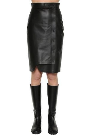 Sportmax Leather Midi Skirt