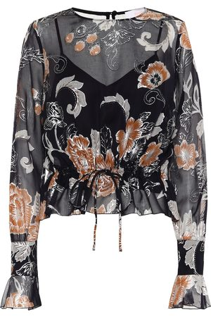 See by Chloé Printed silk and cotton blouse