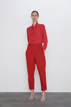 Zara Trousers with snap-button hems
