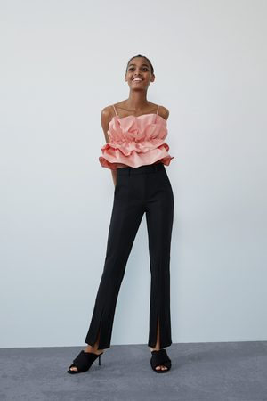 Zara Trousers with front slit detail