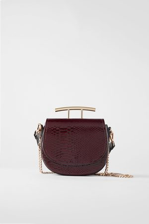 Zara Animal print double t crossbody bag